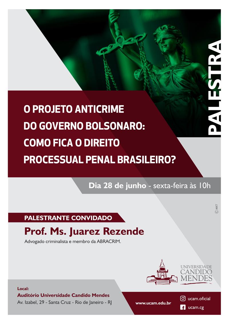 O PROJETO ANTICRIME DO GOVERNO BOLSONARO