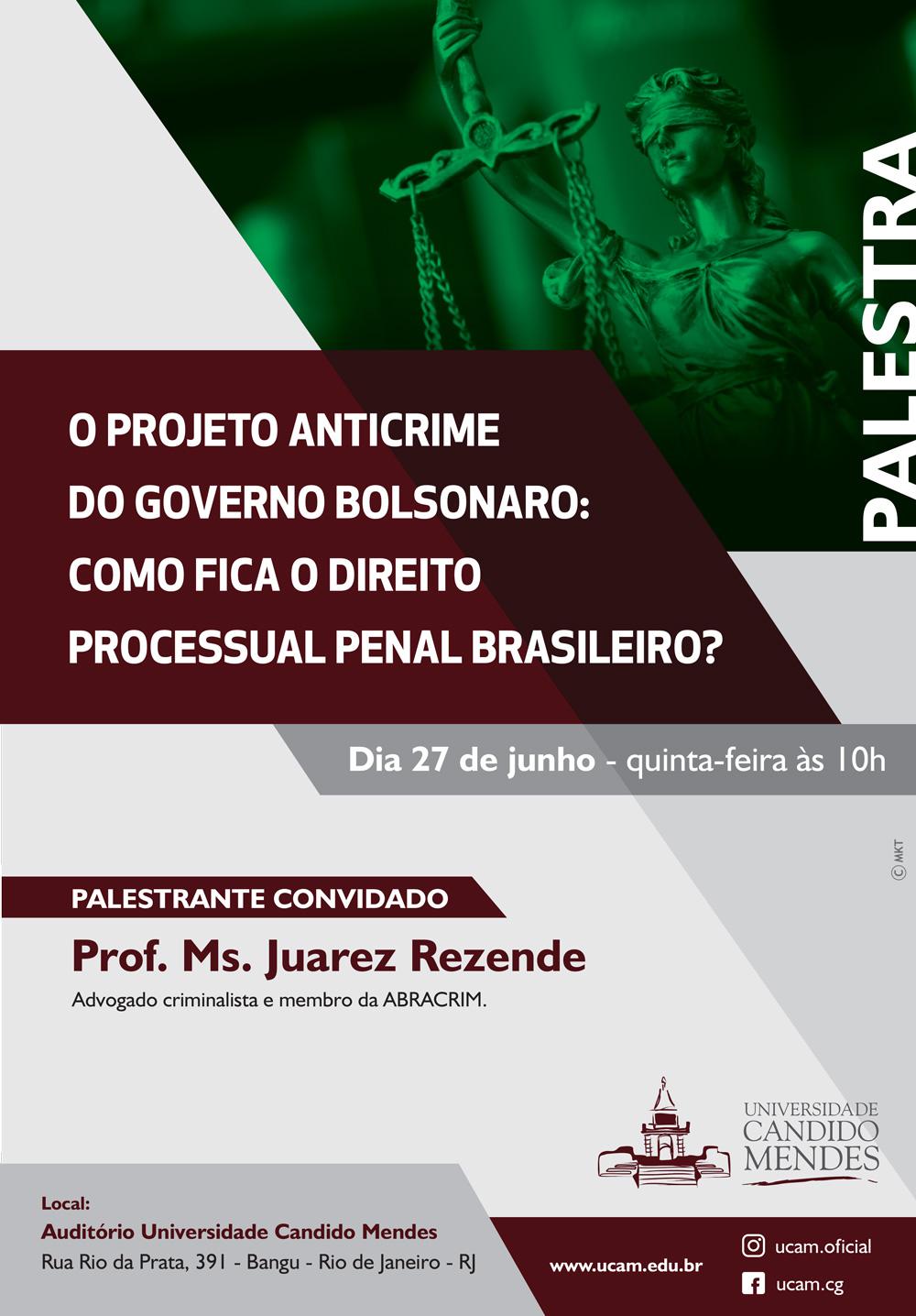 PALESTRA O PROJETO ANTICRIME DO GOVERNO