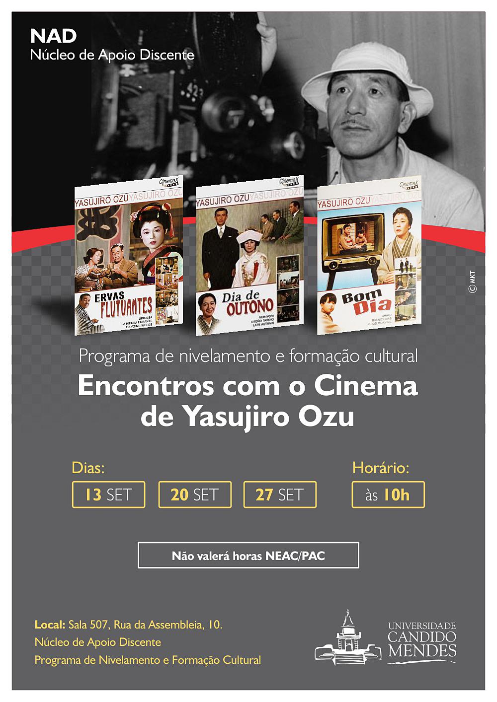 ENCONTROS COM O CINEMA DE YASUJIRO OZU