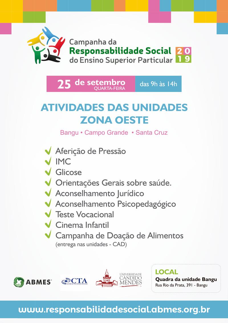 CAMPANHA DA RESPONSABILIDADE SOCIAL – ZONA OESTE